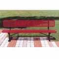 6 ft Custom Logo Outdoor Bench, 85890