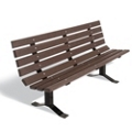 Recycled Plastic Lumber Surface Mount Park Bench - 8 ft, 85958