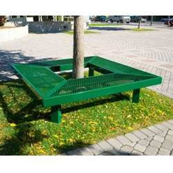 In-Ground 6 ft Mall Bench , 85970