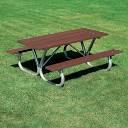 Heavy Duty Recycled Plastic Lumber Picnic Table - 8 ft, 85976
