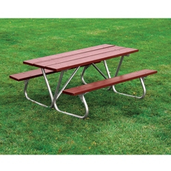 Recycled Plastic Lumber Bolt Thru Picnic Table - 8 ft, 85978