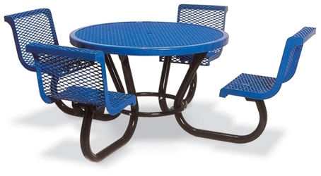 "Round Open Diamond Pattern Outdoor Table - 46"", 86296"