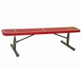 Backless Portable Perforated Steel Bench - 8'W, 87855