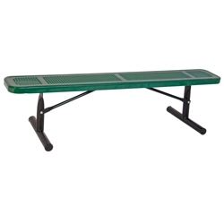 Backless Portable Perforated Steel Bench - 10'W, 87859