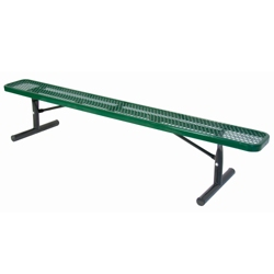 Backless Portable Diamond Pattern Steel Bench - 8'W, 87868