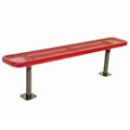Backless Surface Mount Diamond Pattern Steel Bench - 10'W, 87873