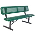 Portable Perforated Steel Bench - 6'W, 87878