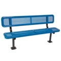 Surface Mount Perforated Steel Bench - 8'W, 87883