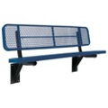 Wall Mount Perforated Steel Bench - 8'W, 87885