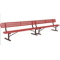 Portable Perforated Steel Bench - 15'W, 87889