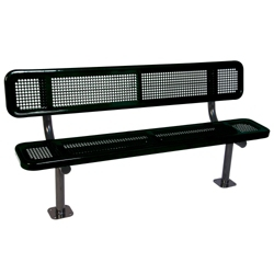 Surface Mount Perforated Steel Bench - 15'W, 87890