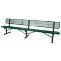Surface Mount Diamond Pattern Steel Bench - 10'W, 87900