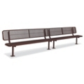 Surface Mount Diamond Pattern Steel Bench - 15'W, 87903