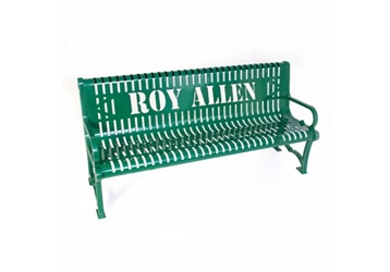 4 ft Custom Logo Outdoor Bench, 85937