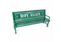 6 ft Custom Logo Outdoor Bench, 85938