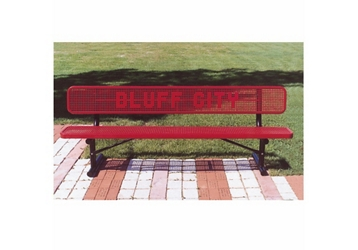 8 ft Custom Logo Outdoor Bench, 87850