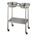 Twin Basin Stand with Lower Shelf, 26294