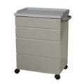 "Mobile Four Drawer Treatment Cart - 34.25""H, 26299"