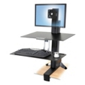 Adjustable Height Single Monitor Desktop Mount, 11335