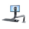 Light Duty Adjustable Height Single Monitor Desktop Arm, 11339