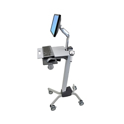 Monitor Cart with Keyboard Tray, 60071