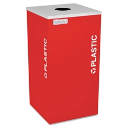 Square Recyclable Plastics Receptacle - 24 Gallon, 87249