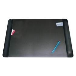 """Faux Leather Antimicrobial Desk Pad with Side Panels - 36""""W x 20""""D, 87465"""