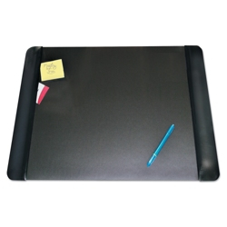 """Faux Leather Antimicrobial Desk Pad with Side Panels - 24""""W x 19""""D, 87469"""