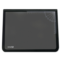 "Desk Pad with Clear Overlay and Rulers - 31""W x 20""D, 87475"