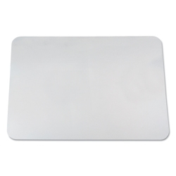 "Clear Vinyl Antimicrobial Desk Pad - 22""W x 17""D, 87476"