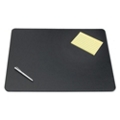 "Rigid Faux Leather Desk Pad with Decorative Stitching - 36""W x 20""D, 87483"