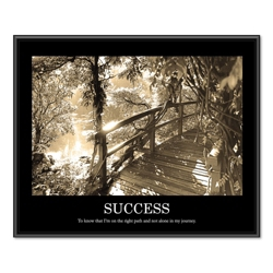 Framed Motivational Print - Success, 91122