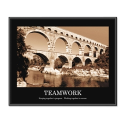 Framed Motivational Print - Teamwork, 91123