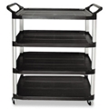 "41""W Four Shelf Utility Cart, 36375"
