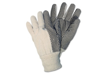 Dotted Canvas Work Gloves - Box of 12, 87031