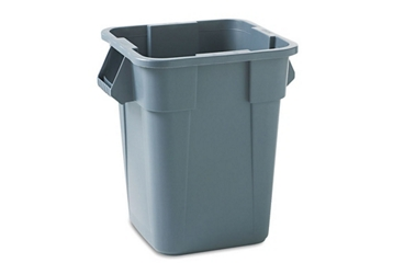 Square Polyethylene Trash Bin - 40 Gallons, 85999