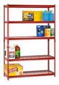 "Boltless Five Shelf Steel Shelving 48"" W x 18"" D x 72"" H  , 37033"