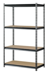 "Boltless Four Shelf Steel Shelving 36""W x 18""D x 60""H, 37025"