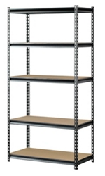 "Boltless Five Shelf Steel Shelving 48"" W x 18"" D x 72"" H, 37028"