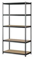 "Boltless Five Shelf Steel Shelving 48"" W x 18"" D x 72"" H, 37028"