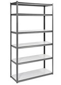 "Boltless Six Shelf Steel Shelving 48"" W x 18"" D x 84"" H, 37031"