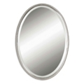 "32""H x 22""W Oval Metal Frame Mirror, 90014"