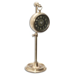 "4"" DIA Adjustable Stand Table Clock, 90019"