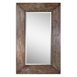 "80.5""H x 50.5""W Oversized Distressed Frame Mirror, 90024"