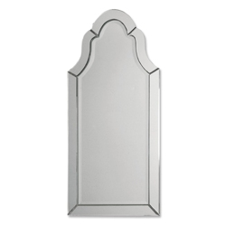 "43.5""H x 20.5""W Frameless Arched Mirror, 90025"