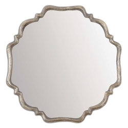 "33""H x 33""W Curved Metal Frame Mirror, 90027"
