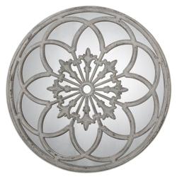 """39.75""""DIA Circular Mirror with Decorative Metal Overlay, 90034"""