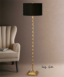 "Bamboo Accented Floor Lamp -64.5""H, 92519"