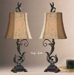 Leaf Accented Table Lamp, 92526