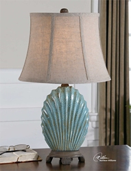 Crackled Shell Table Lamp, 92528